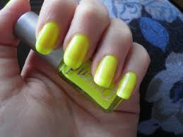crazy about nails neon yellow nails