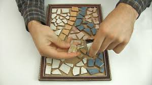 How To Make A Mosaic Table Top How To Make A Mosaic From Broken Tiles 10 Steps With Pictures