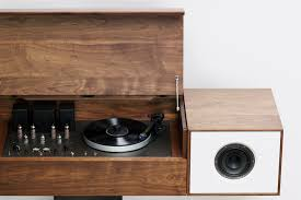 Record Player Cabinet Plans by Review Symbol Audio Modern Record Console Wired