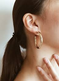 small gold hoop earrings thick gold hoop earrings 40mm small summer co