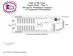 Floor Plan For Wedding Reception by Lady Of The Lake Lake Geneva Cruise Line
