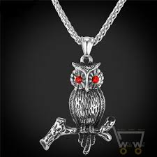 gold owl pendant necklace images 18k gold plated stainless steel chain owl necklace jpg