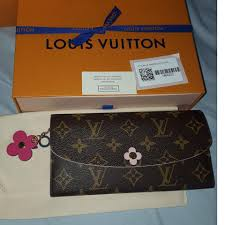 bloom wallet louis vuitton limited edition emilie bloom flower wallet