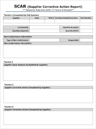 corrective action form template business template