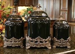 tuscan kitchen canisters sets design fleur de lis onyx tuscan canister set house ideas