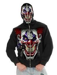 Scary Clown Halloween Costume Evil Clown Jacket Hoodie Mask Scary Juggalo Mens Halloween
