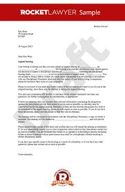 appeal letter notice of appeal hearing template