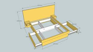 Free Plans Build Platform Bed by Work