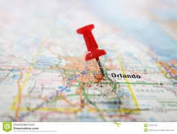 Orlando Florida Map Orlando Map Stock Photo Image 49787162