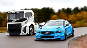 big volvo truck volvo u0027s 2 400 hp semi truck and s60 polestar race car go head to head