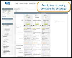 scroll down the comparison screen to check coverage side by side