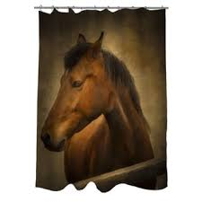 horse fresco ii shower curtain free shipping today overstock