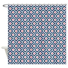 Navy And Coral Shower Curtain Cheap Blue Ikat Shower Curtain Find Blue Ikat Shower Curtain