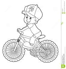 drawn pushbike coloring page pencil and in color drawn pushbike