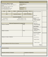 Sle Invoice Template Excel Vehicle Invoice Template Free To Do List