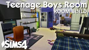 the sims 4 room build teenage boys bedroom youtube