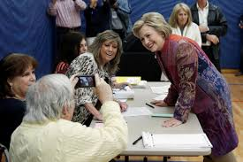 hillary clinton votes in chappaqua photos voters and