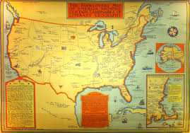 Map Of Americas by A Booklover U0027s Map Of Literary Geography Circa 1933 U2013 Brain Pickings