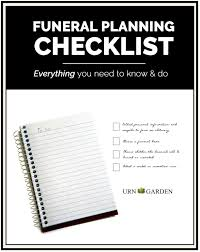 funeral planning checklist how to plan a funeral or memorial service complete checklist to