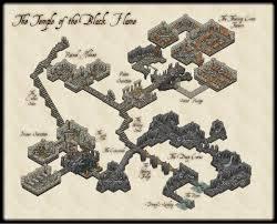 black temple map drawing isometric maps pesquisa battle maps