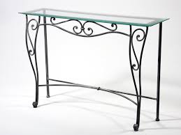 table de cuisine en fer forgé beau table basse fer forge plateau verre 3 table console fer