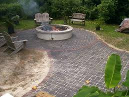 round patio stone patio ideas round fire pit patio ideas image of brick paver