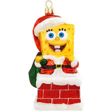 spongebob squarepants in chimney glass ornament bronner s