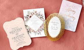wedding invitations groupon custom wedding invitations wedding paper divas groupon