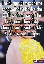 hunger games theme song hunger games theme song sounds a lot like the x files theme song