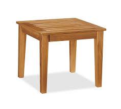 Teak Side Table Hstead Teak Side Table Honey Pottery Barn