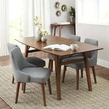 danish dining room table dining table featuring vintage chairs and