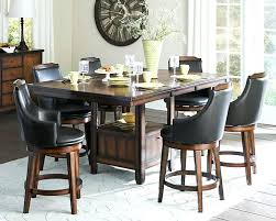 dining table set with storage black counter height dining room set bauapp co