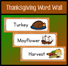 preschool thanksgiving word wall early childhood academy the