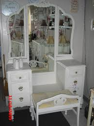 Unpainted Furniture Near Me Tri Fold Mirror Vanity Vintage Painted And Distressed Please See