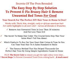 diy hair toner how to fix brassy hair and other unwanted red