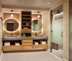 bathroom alcove lighting bathroom transitional with his and hers