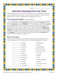 find meaning from text context clues worksheets for 3rd grade