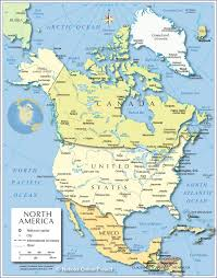 Map Of The Continental United States by Political Map Of North America 1200 Px Nations Online Project