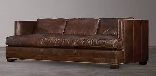 Peyton Leather Sofa Sofa Collections Rh