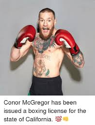 Boxing Meme - 游 conor mcgregor has been issued a boxing license for the state