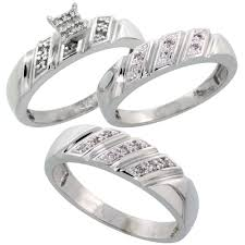 wedding ring trio sets sterling silver jewelry diamond rings trio ring sets