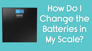 Bathroom Scale Battery How Do I Change The Batteries In My Vive Scale Removing The