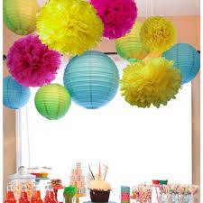 aliexpress com buy 11pcs fuchsia blue yellow party decorations