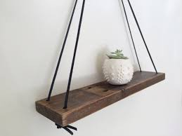 Wood Shelf Making by Barn Wood Swing Shelf Leather U0026 Reclaimed Wood Urban Wood