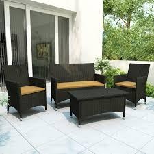 outdoor patio conversation sets lowe s canada z 104 dcp cascade 4 piece patio set