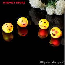 led light up toys wholesale led finger light light up emoji jelly rings emoticon flashing led