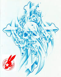 skull cross tattoo design by jackie rabbit a photo on flickriver