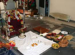 How To Decorate Mandir At Home Satyanarayana Puja A Hindu Prayer Service In South Louisiana