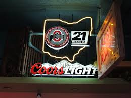 ohio state neon light neon beer sign coors light ohio state university osu neon signs