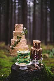 moody woodland wedding shoot with pink peonies weddingomania